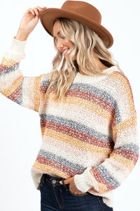 Mult Color Striped Sweater