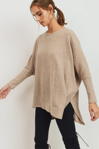 Taupe Brushed Knit Top