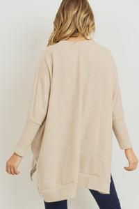Oatmeal Brushed Sweater