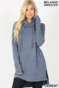 Brushed Cowl Neck Sweater