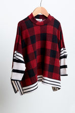 Kids Buffalo Striped Poncho  (runs small)