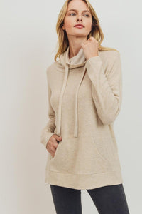 Ivory Brushed Cowl Neck Top