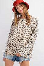 Leopard Oversized Knit Top