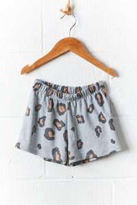 Kids Leopard Shorts (runs small- size up one size)