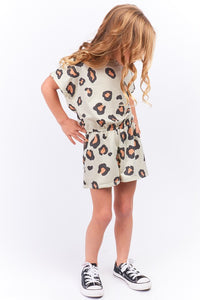 Kids Leopard Romper (runs small- size up one size)