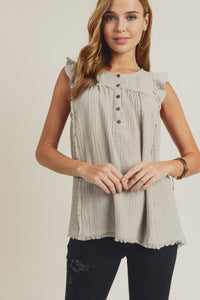 Sleeveless Ruffle Top