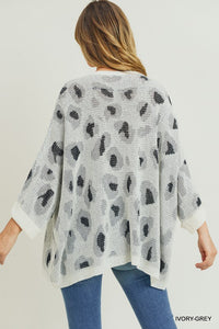 Oversized Leopard Print Pocket Pullover (Estimated Shipping 11/25)