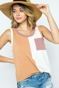 Color Block Sleeveless Top