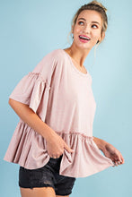 Ruffled Peplum Top