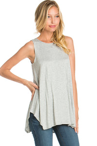 Sleeveless Top - Heather Grey
