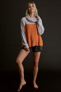Copy of Popcorn Color Block Pullover Sweater