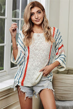 Wide Sleeve Striped Sweater