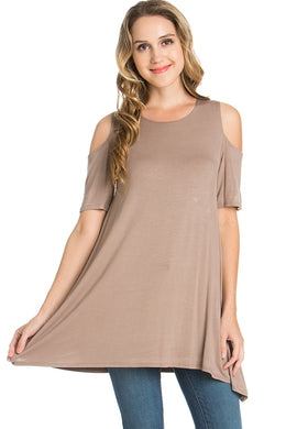 Cold-Shoulder Top - Mocha