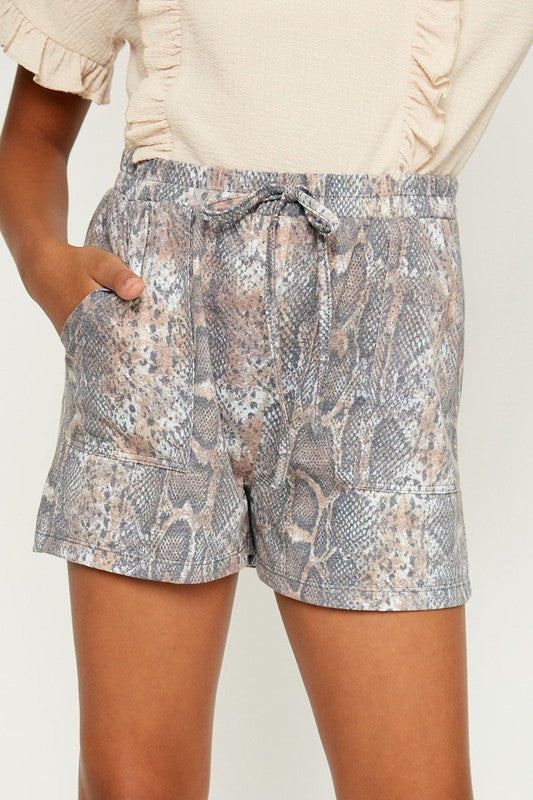Girls Snake Skin Shorts