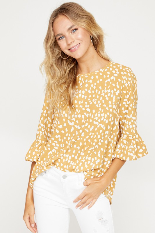 Polka Dot Printed Top