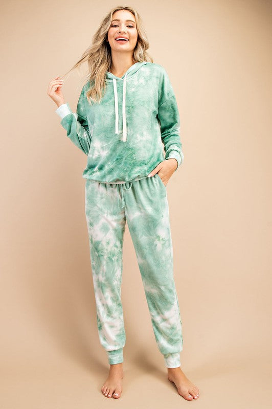 Tie-Dye Hoodie and Jogger Set