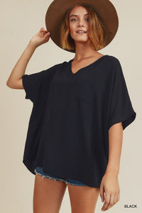 Black Boxy Top (Estimated to ship on 11/10)