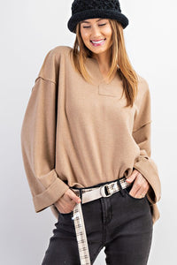 Soft Hacci Pullover Sweater