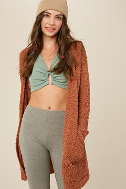 Butterscotch Popcorn Cardigan