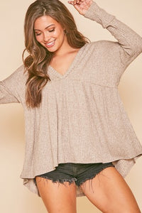 V-Neck Babydoll Top