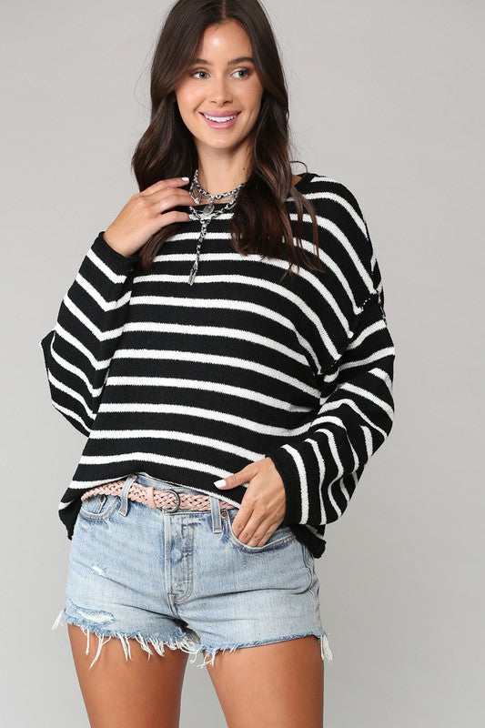 Black/White Striped Sweater