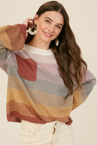 Multi Color Knit Sweater (Estimated Shipping 11/6)