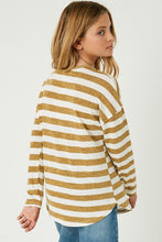Kids Mustard and White Striped Top