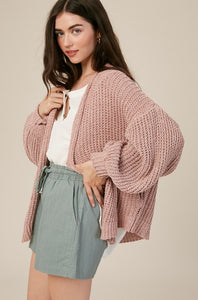 Two Tone Chenille Cardigan