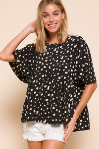Speckled Print Top