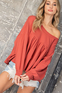 Babydoll Pleated Top