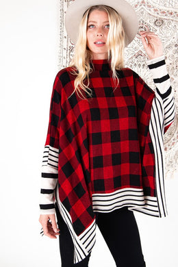 Buffalo Striped Poncho