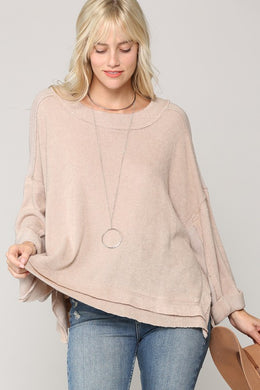 Natural Knit Pullover Sweater