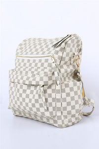 Checkered Backpack Bag
