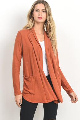 Orange Duster Cardigan
