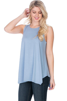 Sleeveless Top - Dusty Blue