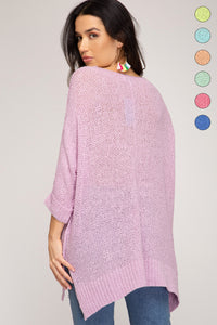 Hi Low Knit Sweater