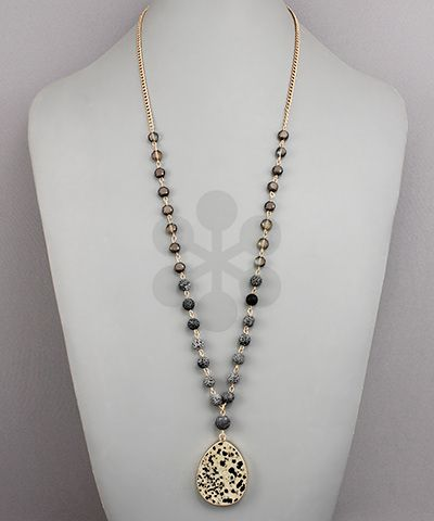 T-Drop Stone Necklace