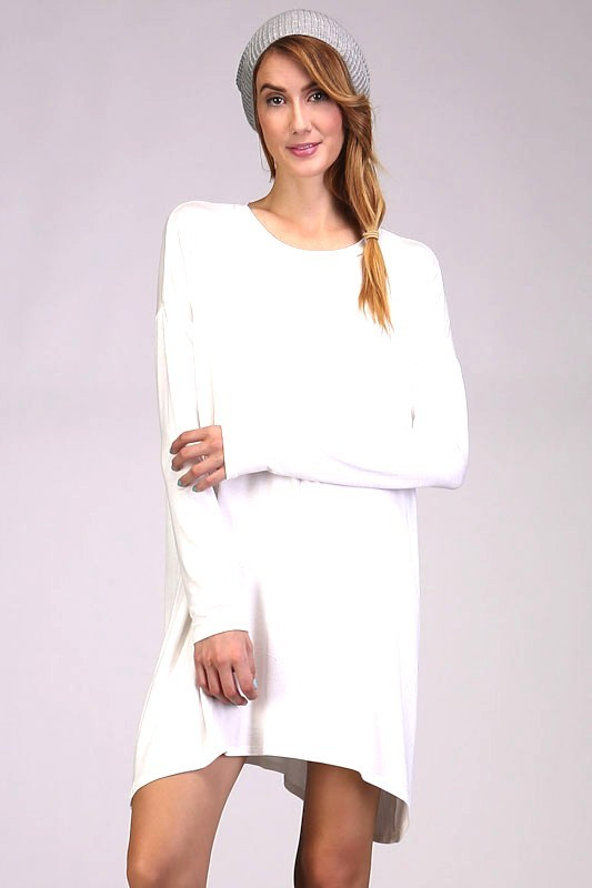 Long Sleeve Tunic - Ivory