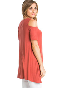 Cold-Shoulder Top - Paprika