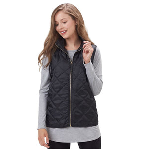 Mud-Pie QUILTED VEST BLACK