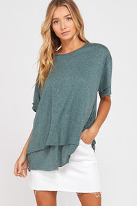 Teal Jersey Knit Top