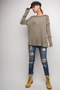 Olive Hacci Knit Top