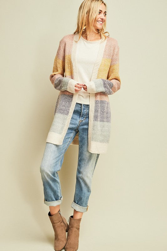 Blush Multi Colored Cardigan