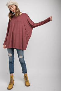 Soft Rayon Oversized Knit Tunic (Runs big, so go down a size.)