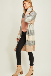 Pastel Striped Cardigan