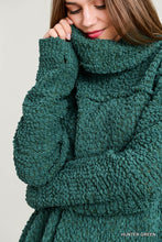 Hunter Green Cowl Neck Sweater (Pre-order)