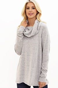 Oatmeal Super Soft Loose Fit Cowl neck top