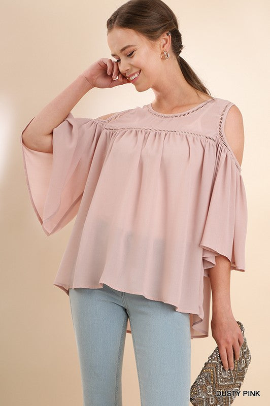 Dusty Pink 3/4 Sheer Top