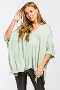 Oversized V-Neck Tunc