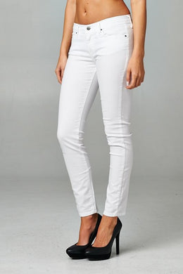 Skinny Ankle White Jeans